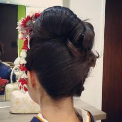 ヘアアレンジ 成人式 和装 きれいめ ヘアスタイルや髪型の写真・画像