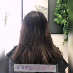 バレイヤージュ 派手髪 セミロング #インナーカラー ヘアスタイルや髪型の写真・画像
