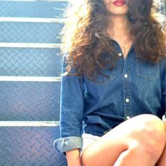 ラフ モード ウェーブ ロング ヘアスタイルや髪型の写真・画像
