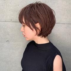 大人女子 大人ショート ナチュラル ショート ヘアスタイルや髪型の写真・画像