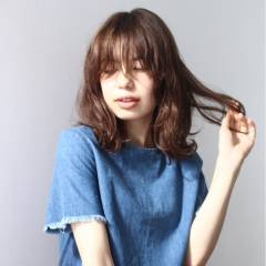 大人かわいい 梨花 ナチュラル セミロング ヘアスタイルや髪型の写真・画像