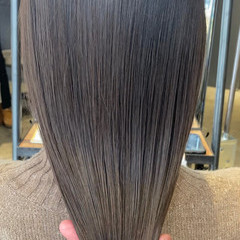 ナチュラル 透明感 大人ロング セミロング ヘアスタイルや髪型の写真・画像