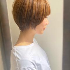 耳かけ ショートヘア 簡単スタイリング ショートボブ ヘアスタイルや髪型の写真・画像