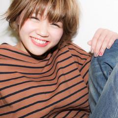 ショート ピュア ガーリー ハイトーン ヘアスタイルや髪型の写真・画像