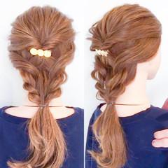 オフィス ロング ヘアアレンジ 簡単ヘアアレンジ ヘアスタイルや髪型の写真・画像