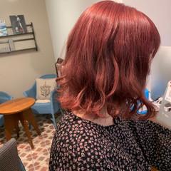 アンニュイ ブリーチカラー ミディアム ゆるふわ ヘアスタイルや髪型の写真・画像