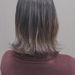 ショートボブ 大人ハイライト ボブ コントラストハイライト ヘアスタイルや髪型の写真・画像