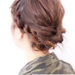ミディアム 簡単ヘアアレンジ 簡単 ショート ヘアスタイルや髪型の写真・画像