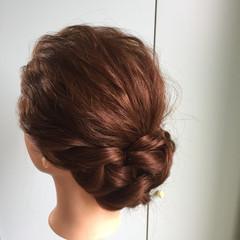ナチュラル ヘアアレンジ セミロング パーティ ヘアスタイルや髪型の写真・画像
