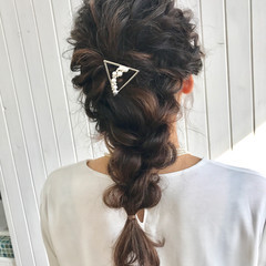 ディズニー 結婚式 編み込み ヘアアレンジ ヘアスタイルや髪型の写真・画像