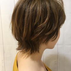 ショートヘア ウルフカット ショート ハイライト ヘアスタイルや髪型の写真・画像
