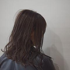 ショコラブラウン ナチュラルブラウンカラー ミディアム ブラウン ヘアスタイルや髪型の写真・画像