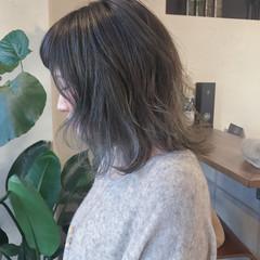 簡単ヘアアレンジ ボブ ストリート 外ハネ ヘアスタイルや髪型の写真・画像