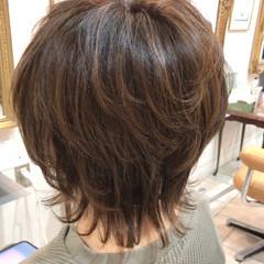 ナチュラルウルフ ニュアンスウルフ ショートヘア ウルフレイヤー ヘアスタイルや髪型の写真・画像