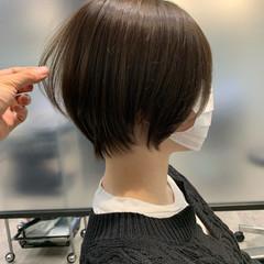 切りっぱなしボブ ショートボブ ベリーショート ショート ヘアスタイルや髪型の写真・画像