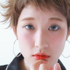 似合わせ ショート 外国人風 グレージュ ヘアスタイルや髪型の写真・画像