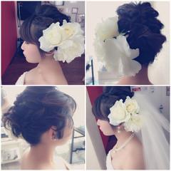 ヘアアレンジ ボブ かわいい 結婚式 ヘアスタイルや髪型の写真・画像