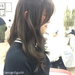 外国人風 グラデーションカラー ストレート ロング ヘアスタイルや髪型の写真・画像