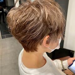 ショート メンズ メンズマッシュ ハイトーン ヘアスタイルや髪型の写真・画像
