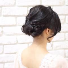 ヘアアレンジ ミディアム コンサバ フェミニン ヘアスタイルや髪型の写真・画像