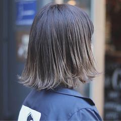 イルミナカラー ボブ オルチャン ストリート ヘアスタイルや髪型の写真・画像