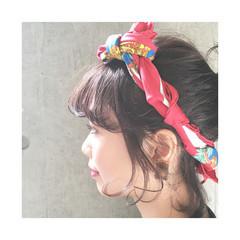 ヘアアクセ ボブ ヘアアレンジ 簡単ヘアアレンジ ヘアスタイルや髪型の写真・画像