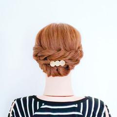 ロング 簡単ヘアアレンジ ロープ編み 女子力 ヘアスタイルや髪型の写真・画像