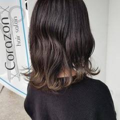 ダブルカラー エレガント デザインカラー 透明感カラー ヘアスタイルや髪型の写真・画像