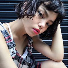 外国人風 ストリート 暗髪 黒髪 ヘアスタイルや髪型の写真・画像