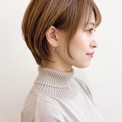 ショートヘア ナチュラル ブリーチなし 大人かわいい ヘアスタイルや髪型の写真・画像