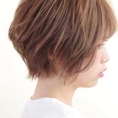 外国人風 ヘアアレンジ ゆるふわ ショート ヘアスタイルや髪型の写真・画像