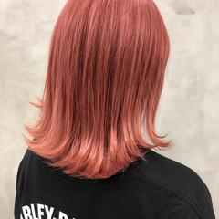 ピンクアッシュ ナチュラル ブリーチ ボブ ヘアスタイルや髪型の写真・画像