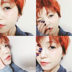 ショート ベリーショート ヘアアレンジ モード ヘアスタイルや髪型の写真・画像