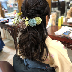 ヘアアレンジ 簡単ヘアアレンジ ロング 袴 ヘアスタイルや髪型の写真・画像