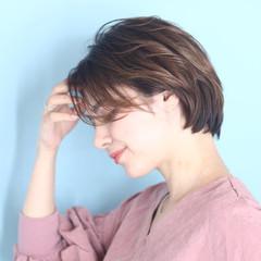 ショート 白髪染め パーマ デート ヘアスタイルや髪型の写真・画像