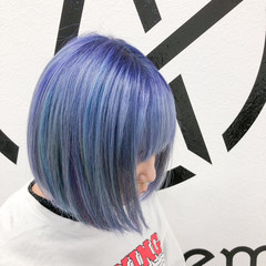 ブリーチオンカラー ブリーチカラー ブリーチ ホワイトブリーチ ヘアスタイルや髪型の写真・画像