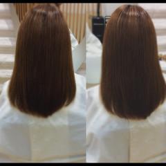 ナチュラル 大人ミディアム 髪質改善 髪質改善トリートメント ヘアスタイルや髪型の写真・画像