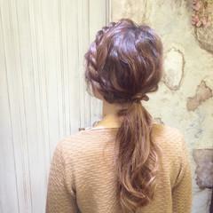 大人かわいい ロープ編み 簡単ヘアアレンジ ショート ヘアスタイルや髪型の写真・画像