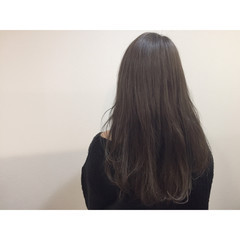 アッシュ 暗髪 ロング 渋谷系 ヘアスタイルや髪型の写真・画像