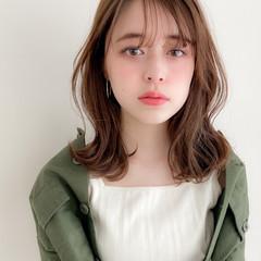 デジタルパーマ ミディアム アンニュイほつれヘア デートヘア ヘアスタイルや髪型の写真・画像