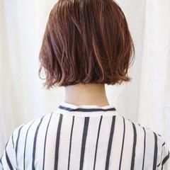 ボブ ミニボブ ハイライト ピンク ヘアスタイルや髪型の写真・画像