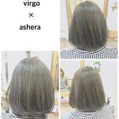 外国人風カラー 3Dカラー ボブ ストリート ヘアスタイルや髪型の写真・画像
