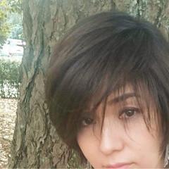 透明感 女子力 小顔 ショート ヘアスタイルや髪型の写真・画像