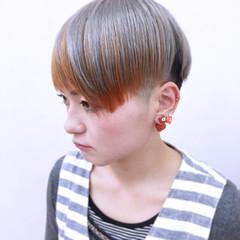 ニュアンス 前髪あり 大人かわいい ショート ヘアスタイルや髪型の写真・画像
