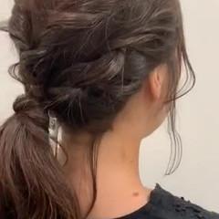 ベージュ セミロング レイヤーカット ナチュラル ヘアスタイルや髪型の写真・画像
