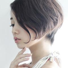 小顔 女子会 オフィス ナチュラル ヘアスタイルや髪型の写真・画像