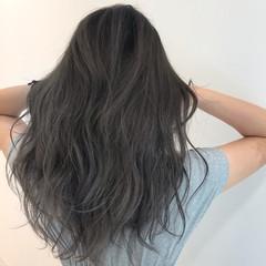 バレイヤージュ セミロング ブリーチカラー エレガント ヘアスタイルや髪型の写真・画像