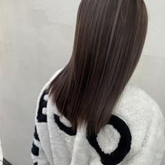 ナチュラル セミロング ナチュラルベージュ 圧倒的透明感 ヘアスタイルや髪型の写真・画像