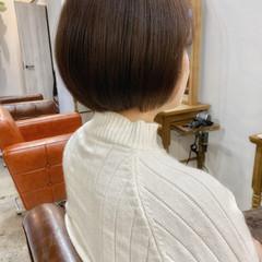オフィス ガーリー ショート ショートボブ ヘアスタイルや髪型の写真・画像
