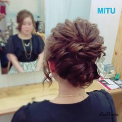 ヘアアレンジ アップスタイル 結婚式 ねじり ヘアスタイルや髪型の写真・画像